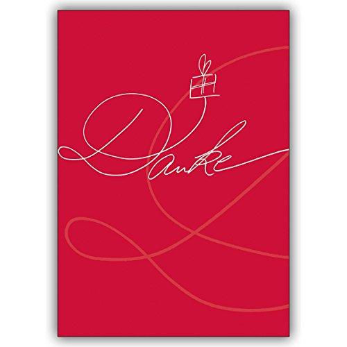 1 Dankeskarte: Mit dieser Klappkarte verschicken Sie eine edle, handgeschriebene Dankeskarte.
