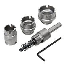 Greenlee 655 Kwik Change Stainless Steel Hole Cutter Kit, 5 Piece