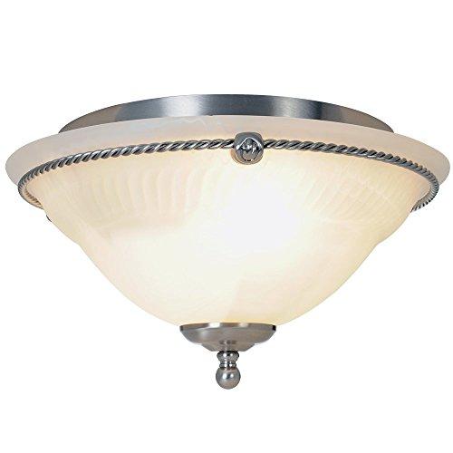 AF Lighting 617026 14-Inch D by 8-Inch H Torino Lighting Collection 3 Light Ceiling Flush Mount, Brushed Nickel