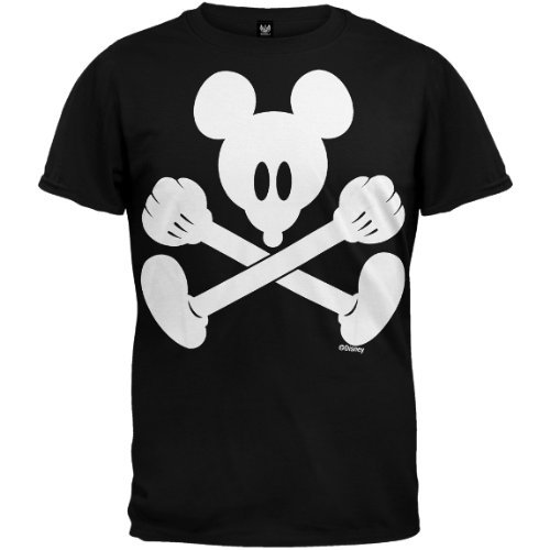 Old Glory Mens Mickey Mouse - Simple Soft T-Shirt - 2X-Large Black