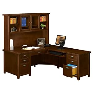 Ldesk With Hutch And Right Handed Return Home Office Desks