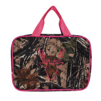 Mainstreet Camo Camoflauge Hot Pink Large Make-Up Toiletries Cosmetic Travel Bag Case
