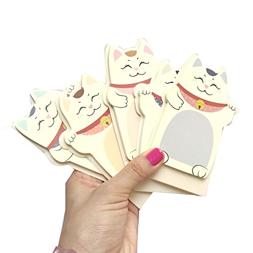 brosuper-5-stuck-cute-cartoon-animal-lucky-cat-notizen-aufkleber-memo-pads-lesezeichen-tab-scrapbook
