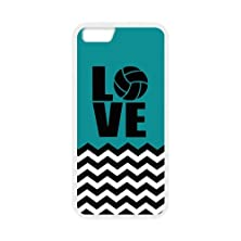 """buy Black And White Chevron Splicing Blue Background """"Love"""" White Stylish Cover Case & Dust Plug For Iphone 6 Plus (5.5Inch) With High-Quality Plastic"""