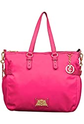 Juicy Couture Malibu Nylon Collection Tote in Hot Pink