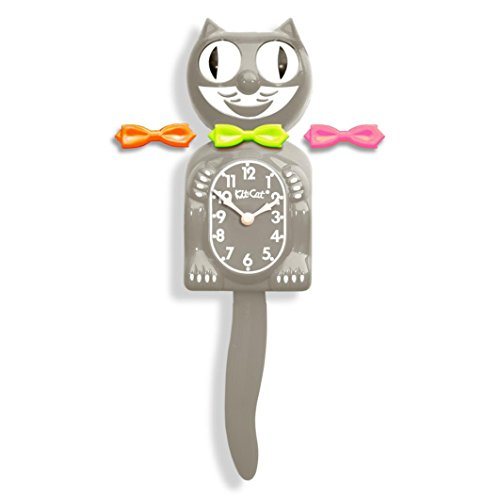 California Clock BC38 Kit Cat Klock Bc38 Grey Clock Modern Art Cat Is A Stone