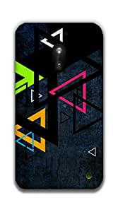 The Racoon Lean Triangles hard plastic printed back case / cover for Nokia Lumia 620