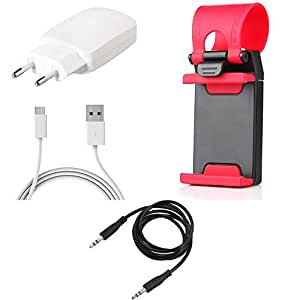 NIROSHA Charger Mobile Holder for Xiaomi Redmi 2s - Combo