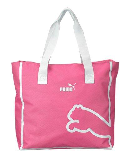 Puma Monoline Tote Shoulder Bag (Pink/White) front-1023910
