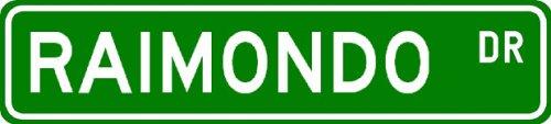 RAIMONDO Street Sign ~ Personalized Family Lastname Novelty Sign ~ Gameroom, Basement, Garage Sign ** Aluminum 4 x 18 - Buy RAIMONDO Street Sign ~ Personalized Family Lastname Novelty Sign ~ Gameroom, Basement, Garage Sign ** Aluminum 4 x 18 - Purchase RAIMONDO Street Sign ~ Personalized Family Lastname Novelty Sign ~ Gameroom, Basement, Garage Sign ** Aluminum 4 x 18 (The Lizton Sign Shop, Home & Garden,Categories,Patio Lawn & Garden,Outdoor Decor)
