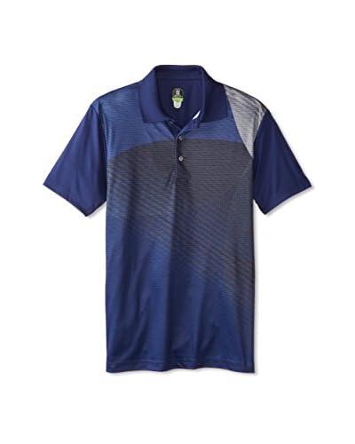PGA Tour Men's Natural Geo Print Polo  [Sodalite Blue]