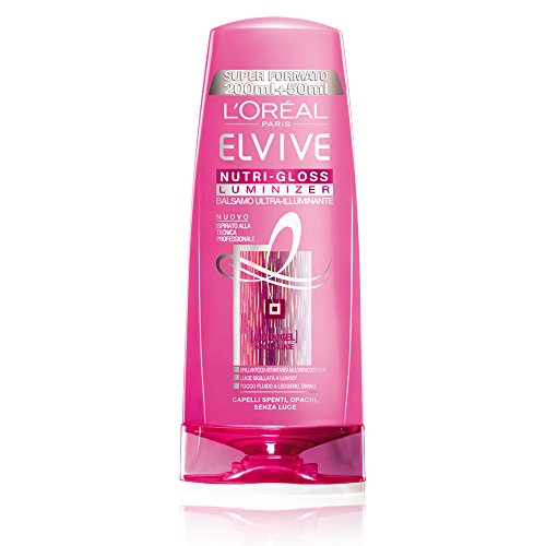 L'Oréal Paris Elvive Nutri-Gloss Luminizer Balsamo Ultra-Illuminante per Capelli Spenti, 250 ml