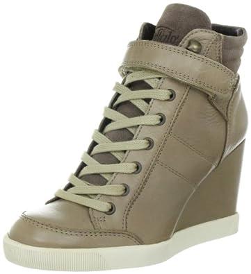 Buffalo London ES 30083 GARDA SUEDE 136928, Damen Fashion Sneakers, Beige (TAUPE 60), EU 41