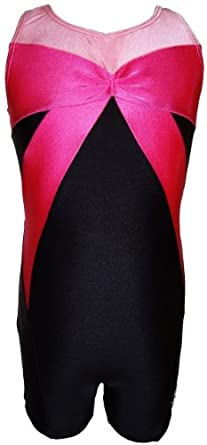 Buy Talent Tale Girls Black Tank Bow Unitard Biketard Size XS 4 5 - S 6 6X - M 7 8 - L 10 12 by TALENT TALE