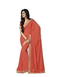 Subhash Sarees Daily Wear Salmon Color Georgette Saree Sari Sarees