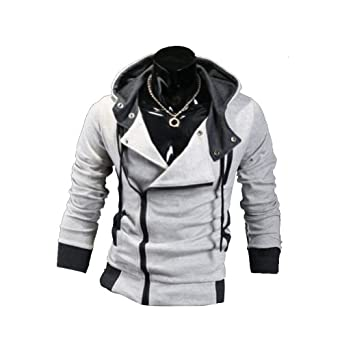 Xfome Style Men Assassins Creed 3 Desmond Miles Cosplay Costume Hoodie Jacket