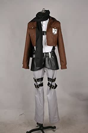 Size XL-Large Attack on Titan Mikasa Ackerman Eren Jaeger Cosplay Costume