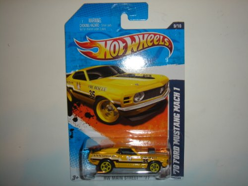2011 Hot Wheels '70 Ford Mustang Mach 1 Yellow #169/244 - 1