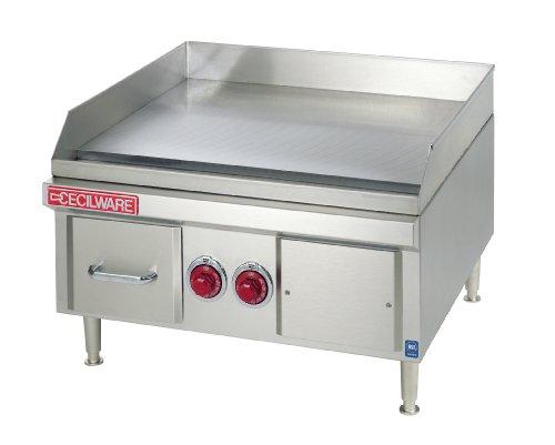 Grindmaster-Cecilware El1824-240V-1Ph Steel And Stainless Steel Heavy Duty Electric Griddles, 2 Heating Element