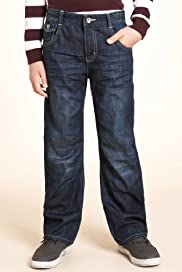 Pure Cotton Button Pocket Bow Fit Jeans [T87-5911S-S]