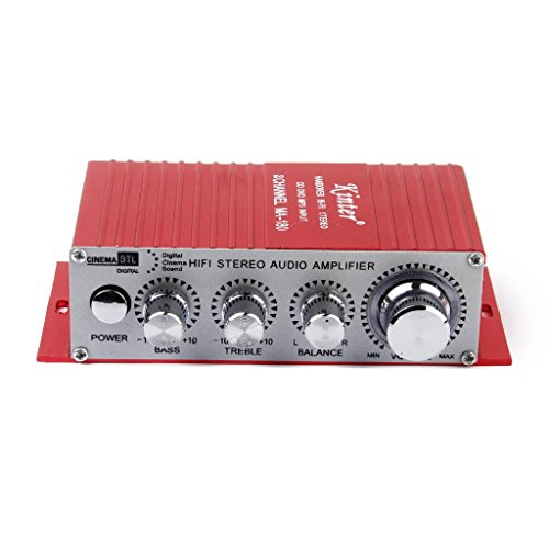 Generic Red Mini Car Motorcycle MP3 MP4 Hi-Fi Stereo Audio Amplifier with USB Output  available at amazon for Rs.920