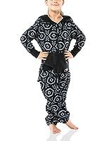 ZIPUPS Mono-Pijama Aztec (Negro)