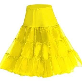 "Rockabilly Net Petticoat Skirt Tutu, 26"" Length AI-031: Clothing"