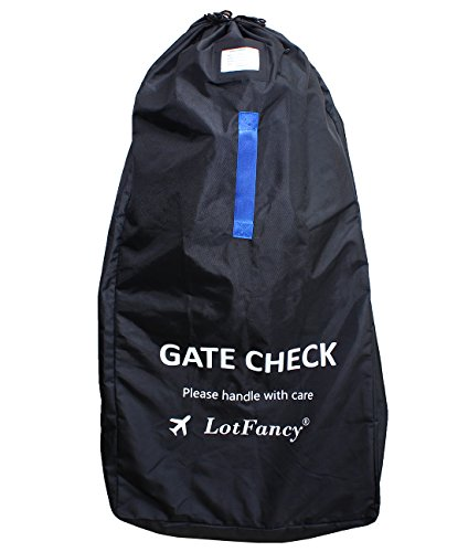 buy LotFancy Gate Check Travel Bag for Baby Umbrella Strollers,with Shoulder Strap,Water Resistant (47x23x14 inch) for sale