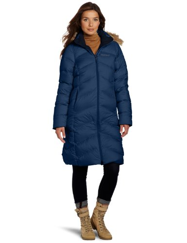 Marmot Women's Montreaux Insulated Down Coat - Blue Ink, Large