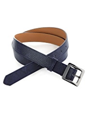 M&S Collection Square Buckle Textured Belt