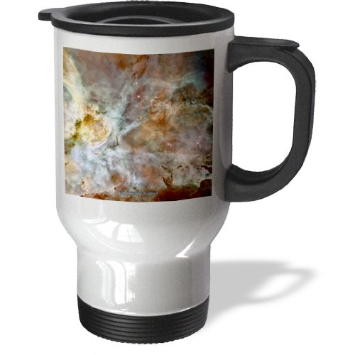 Tm_76816_1 Sandy Mertens Space Gallery - Galaxy And Nebula - Eta Carinae Nebula By Nasa Hubble Telescope - Travel Mug - 14Oz Stainless Steel Travel Mug