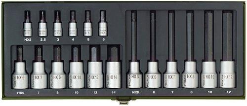 Proxxon-23100-Steckschlsselsatz-Hex-14-Zoll-12-Zoll-18-teilig