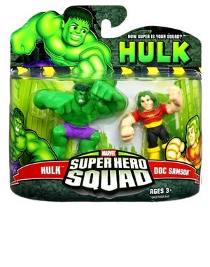 Marvel Superhero Squad Incredible Hulk Movie Series 3 Mini 3 Inch Figure 2-Pack Hulk and Doc Samson (Doc Samson 1 Marvel compare prices)
