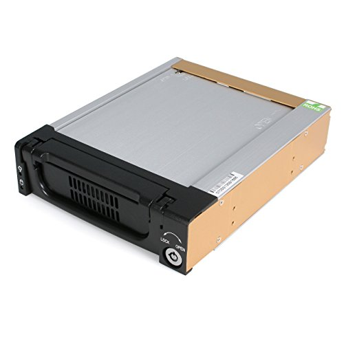 StarTech.com Black Aluminum 5.25in Rugged SATA Hard Drive Mobile Rack Drawer (Hard Drive Removable compare prices)