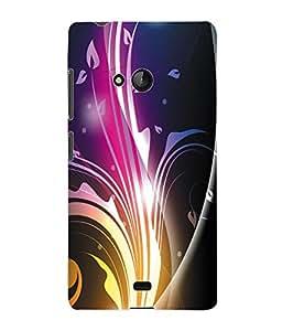 Fuson 3D Printed Coloured Pattern Designer Back Case Cover for Microsoft Lumia 540 - D977