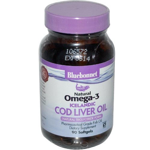 Bluebonnet Natural Omega-3 Icelandic Cod Liver Oil - 90 Softgels