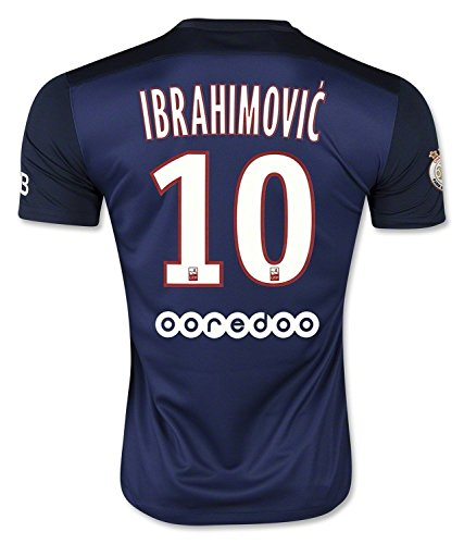 Nike Ibrahimovic #10 Paris Saint-Germain Home Soccer Jersey 2015/サッカーユニフォーム パリ・サン-ジェルマン ホーム用 イブラヒモヴィッチ 背番号10 (M)