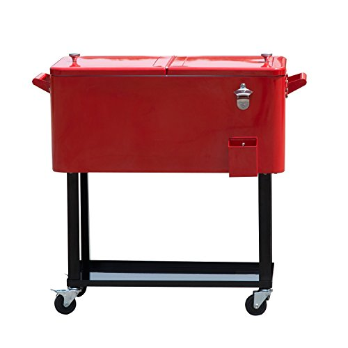 Outsunny B2 0010 Rolling Ice Chest Portable Patio Party