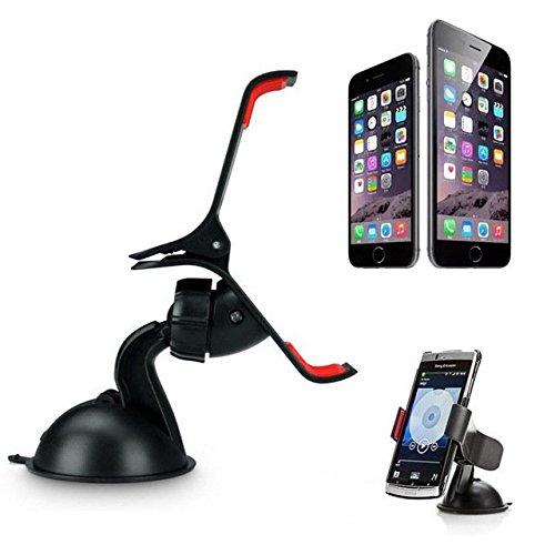 & # X2728; netta soluzioni & # X2728; Supporto Auto Auto Universale Regolabile, Ventosa Extra Forte con rotazione a 360°, fissaggio su parabrezza, Tabella di bordo per iPhone 6Plus, iPhone 6, iPhone 5S, iPhone 5C, iPhone 5iPhone 4S/Samsung Galaxy S6S5S4S3, Galaxy Note 4Nota 3Nota 2Nota 1/HTC/Sony Xperia/Nokia/LG/GPS TomTom, Garmin e altri dispositivi-Nero