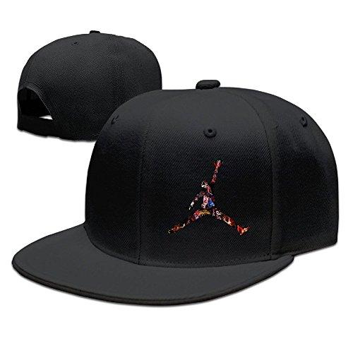 ZD ユニセックス ユニーク バスケットボール 選手 ロゴ ポスター 紫外線対策 ベースボールキャップ Black