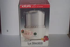 krups ice cream maker la glaciere manual