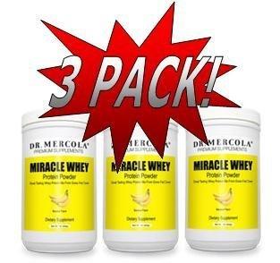 Dr. Mercola: Miracle Whey Banana Protein Powder 1 lb (3 pack)