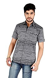 Carbone Men's Silm Fit Casual Shirt-XXL