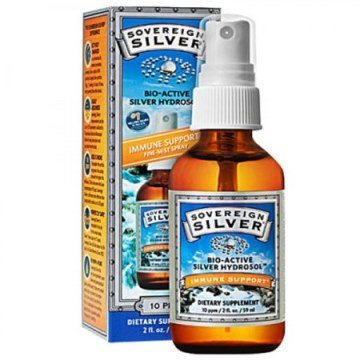 Sovereign Silver Colloidal Silver, 2 oz. Fine Mist Spray Top