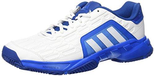 adidas Barricade Court 2, Scarpe da tennis uomo Multicolore Blanco / Azul (Ftwbla / Ftwbla / Azuimp) 44