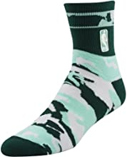 Official NBA Crew Socks Spruce Teal Mint White Camo Size Large FBF