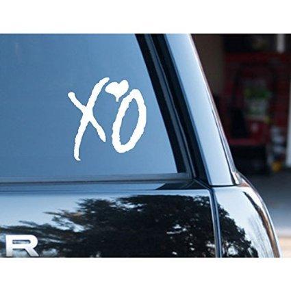XO vinyl Sticker Laptop Window Car Decal