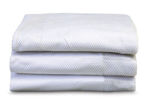 Foundations Worldwide SleepFresh Crib Cover, White, 3 Count