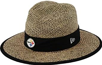 NFL Pittsburgh Steelers Training Camp Straw Hat, Tan, One Size Fits All by New Era