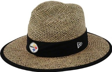 NFL Unisex Adult Pittsburgh Steelers Training Camp Straw Hat (Tan, One Size Fits All)